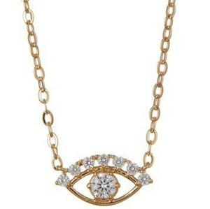 NADRI 18K Gold Plated Brass CZ Eye Pendant